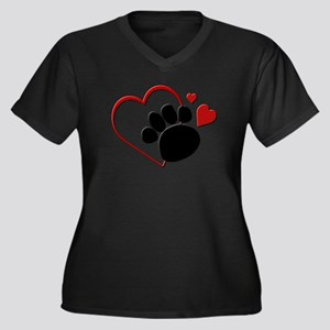 hearts_dog_paw Plus Size T-Shirt