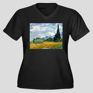 Van Gogh Wheat Field With Cypresses Women's Plus S