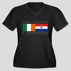 Irish Croatian flags Plus Size T-Shirt