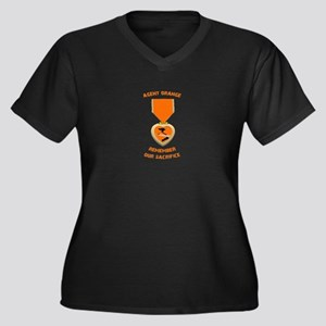 Agent Orange Women's Plus Size V-Neck Dark T-Shirt