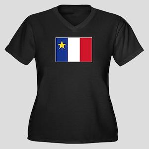 Flag of Acad Women's Plus Size V-Neck Dark T-Shirt