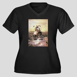 cowboy art Plus Size T-Shirt