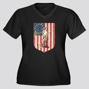 Concord Minuteman, Shield Plus Size T-Shirt