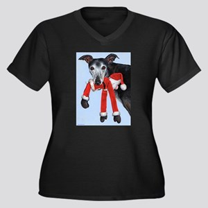 Naughty Women's Plus Size V-Neck Dark T-Shirt