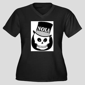NOLa Sign Women's Plus Size V-Neck Dark T-Shirt