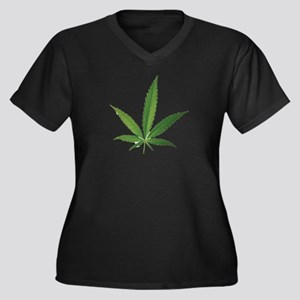 POT LEAF Plus Size T-Shirt