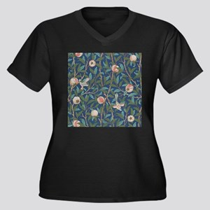 Bird and Pomegranate by William Morris Plus Size T