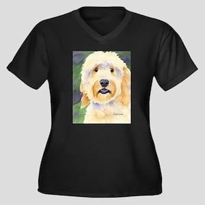 Goldendoodle Women's Plus Size V-Neck Dark T-Shirt