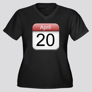 4:20 Date Women's Plus Size V-Neck Dark T-Shirt