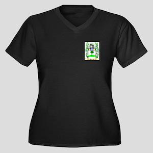 Hattrick Women's Plus Size V-Neck Dark T-Shirt