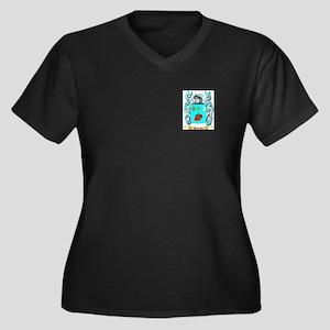 Sultana Women's Plus Size V-Neck Dark T-Shirt
