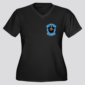 428th TFS Women's Plus Size V-Neck Dark T-Shirt