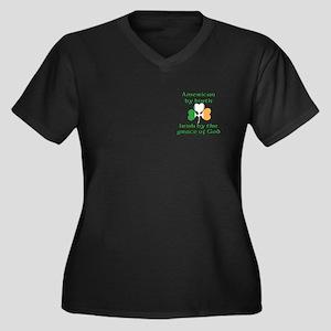 Funny Irish American Joke Women's Plus Size V-Neck