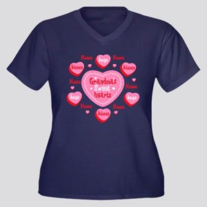 Grandma's Sweethearts Personalized Women's Plus Si