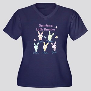 467bbc62 Grandmas little bunnies custom Plus Size T-Shirt