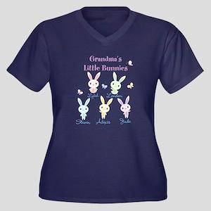 467bbc62 Grandmas little bunnies custom Plus Size T-Shirt