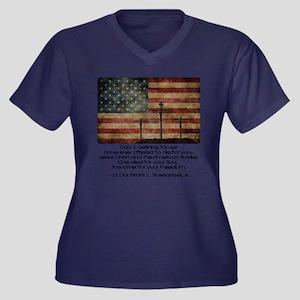 Defining For Women's Plus Size V-Neck Dark T-Shirt