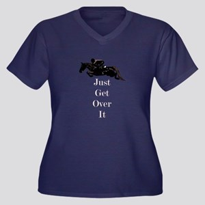 Just Get Over It Horse Jumper Women's Plus Size V-