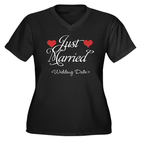 Just Marrried (Add Wedding Date) Women's Plus Size