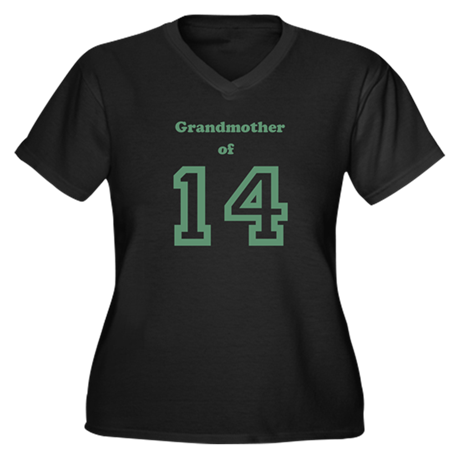 Personalized Grandmother Women's Plus Size V-Neck