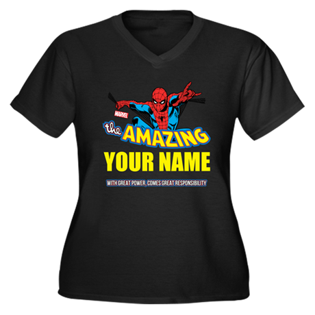 The Amazing Women's Plus Size V-Neck Dark T-Shirt