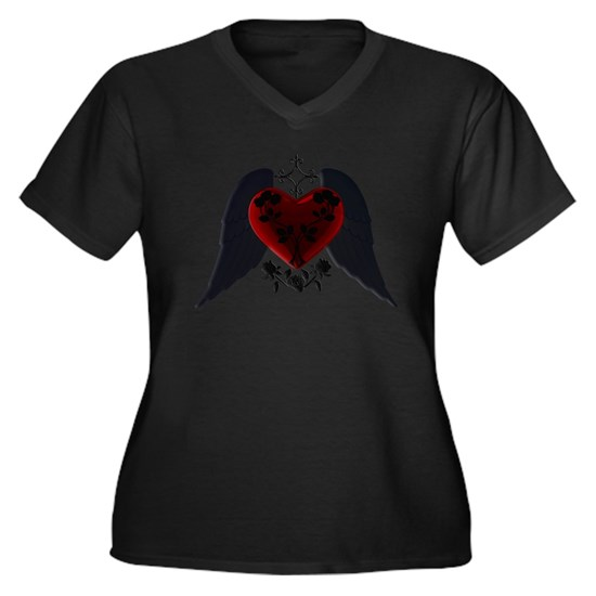 Black Winged Goth Heart