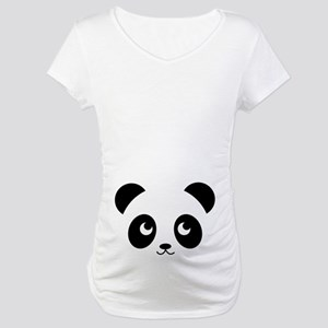 Panda Smile Copy Maternity T-Shirt