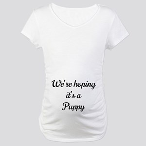 We're hoping it's a Puppy Maternity T-Shirt