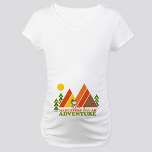 Snoopy-Make Every Day An Adventu Maternity T-Shirt