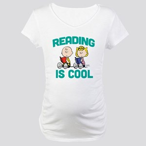 Charlie & Sally Brown-Reading is Maternity T-Shirt