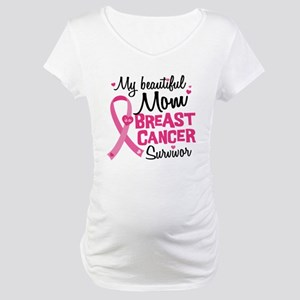 Mom Breast Cancer Maternity T-Shirt