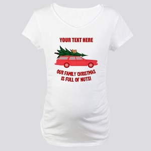 Custom Christmas Vacation Maternity T-Shirt