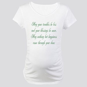 Irish Blessing Maternity T-Shirt
