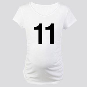 Number 11 Helvetica Maternity T-Shirt