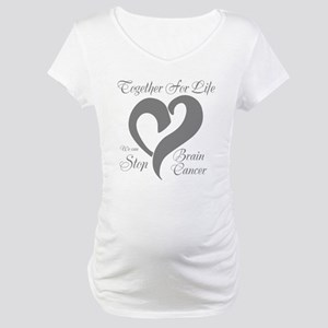 Personalizable Brain Cancer Maternity T-Shirt