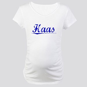 Haas, Blue, Aged Maternity T-Shirt