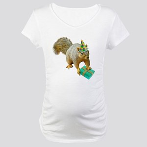 Birthday Squirrel Maternity T-Shirt