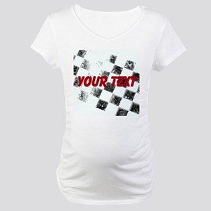Checkered Flag Maternity T-Shirt