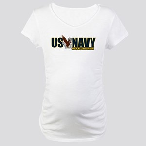 Navy Daughter Maternity T-Shirt