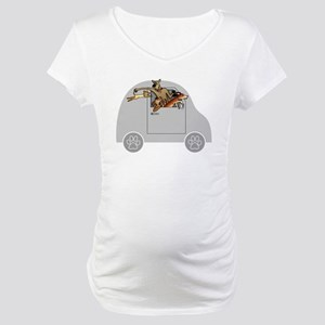 Riding in Cars with Dogs Maternity T-Shirt