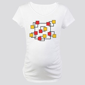 Red and Yellow Squares Maternity T-Shirt