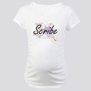 Scribe Artistic Job Design with Maternity T-Shirt