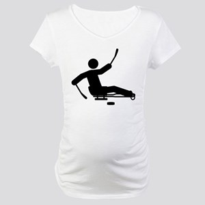 Sled Hockey Maternity T-Shirt