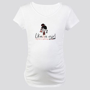 Science Like A Girl! Maternity T-Shirt