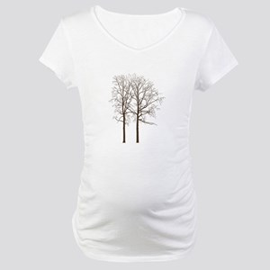 Brown Trees Maternity T-Shirt