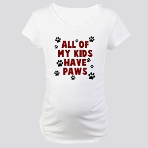 Kids paws Maternity T-Shirt