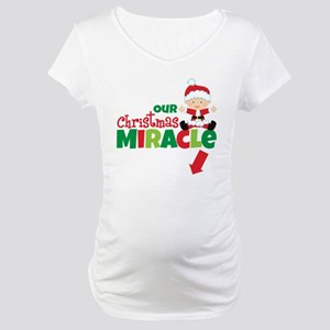 Our Christmas Miracle Pregnancy Announcement Mater