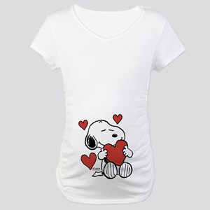 553a31ab59c44 Snoopy Maternity T-Shirts - CafePress