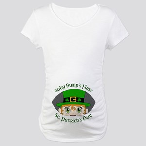 8513c4ba6 First St. Patrick's Day Maternity T-Shirt