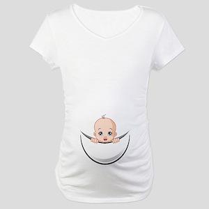 2bea9661f9f96 Baby Girl Peeking Maternity T-Shirts - CafePress